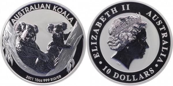 Australien 10 Dollar 2011 - Koalas