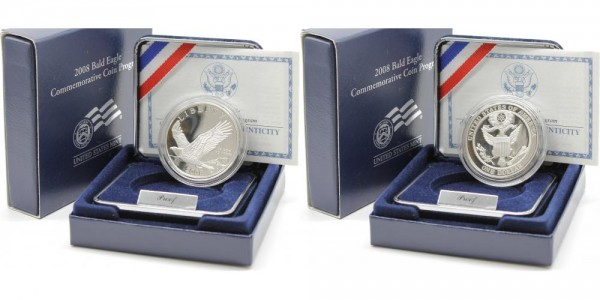 USA 1 Dollar 2008 P Bald Eagle Commemorative Coin Programm PP