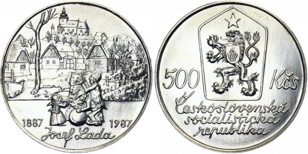 CSSR 500 Kč 1987 - Josef Lada