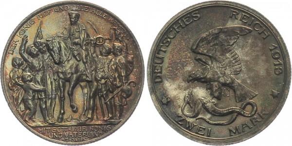 Preussen 2 Mark 1913 A Der König rief, Wilhelm II.