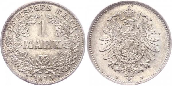 Kaiserreich 1 Mark 1875 D -