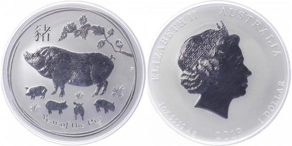 Australien 1 Dollar 2019 - Jahr des Schweins