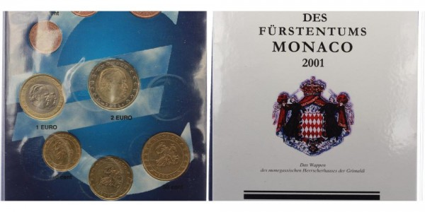 Monaco KMS (3,88€) 2001 - Rainier III.
