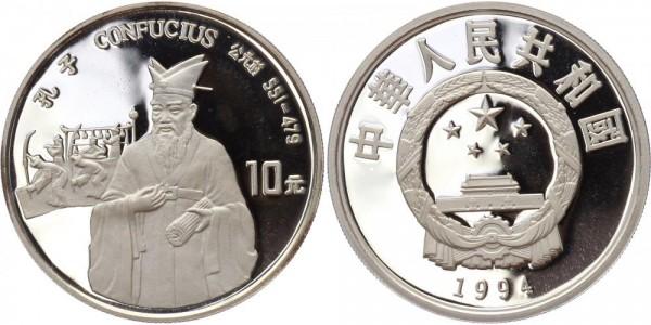 China 10 Yuan 1994 - Konfuzius