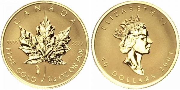 Kanada 10 Dollar 2001 - Maple Leaf