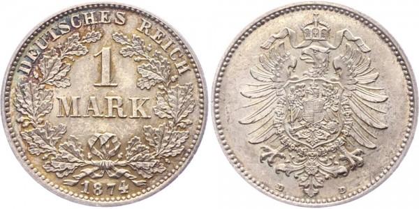 Kaiserreich 1 Mark 1874 D -