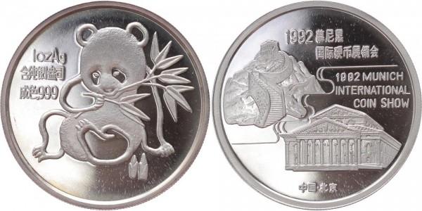 China Medaille 1992 - Panda Munich Coin Show