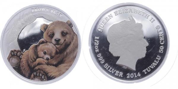 Tuvalu 50 Cents 2014 - Braunbär