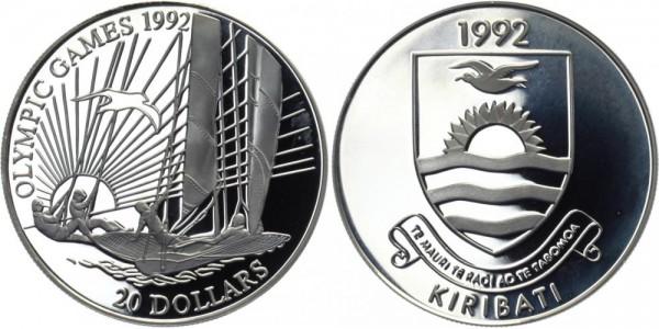 KIRIBATI 20 Dollars 1992 - Olympische Spiele 1992