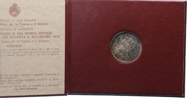 San Marino 500 Lire 1976 - Soziale Sicherheit