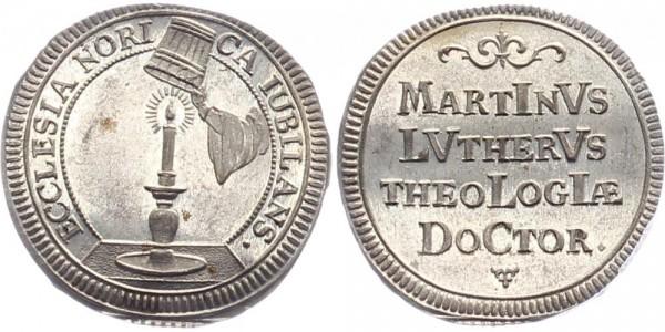 Nürnberg Silberabschlag von Dukaten 1717 - Martin Luther