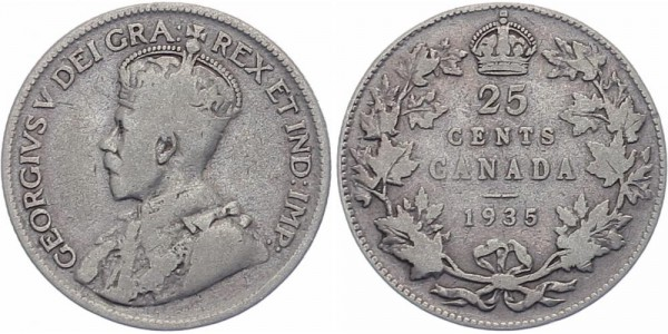 Kanada 25 Cents 1935 - George V.