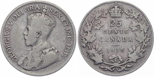Kanada 25 Cents 1935 - George V.
