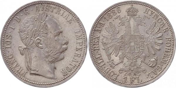 Österreich 1 Florin (Gulden) 1886 - Franz Joseph I.