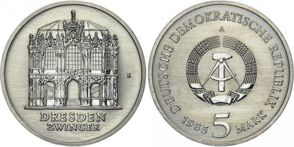 DDR 5 Mark 1985 A Dresdener Zwinger