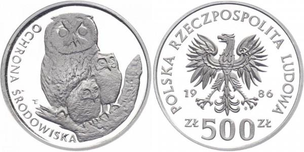 Polen 500 Zlotych 1986 - Eulen