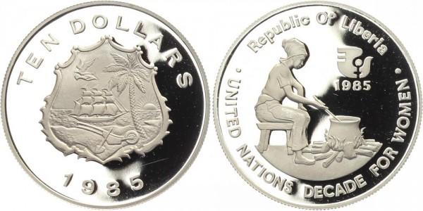 Liberia 10 Dollars 1985 - Jahrzehnt der Frau