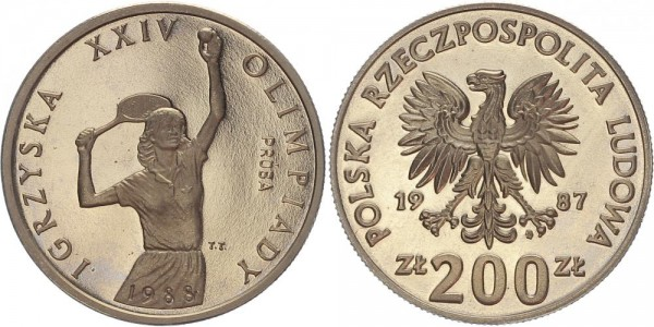Polen 200 Zloty 1987 - Olympische Spiele 1987