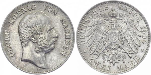 SACHSEN 2 Mark 1904 E Georg