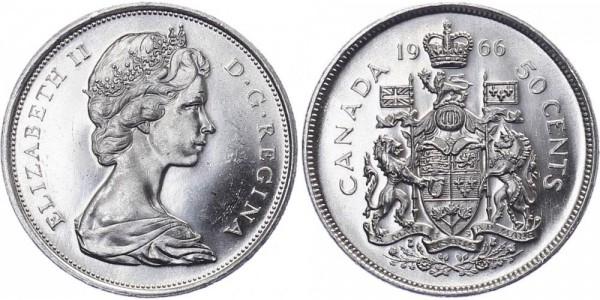 Kanada 50 Cent 1964-66 - Kursmünze