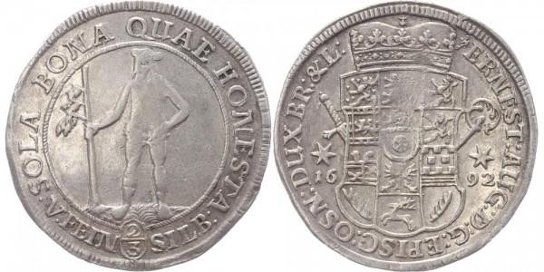 Braunschweig-Calenberg-Hannover 2/3 Taler 1692 - Wilder Mann