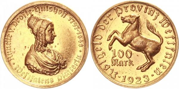 Westfalen 100 Mark 1923 - Annette v. Droste-Hülshoff