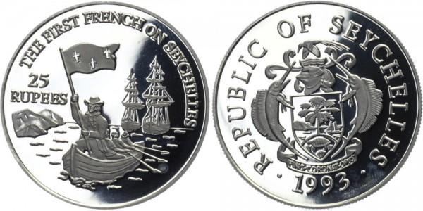SEYCHELLEN 25 Rupien 1993 - Ankunft der Franzosen