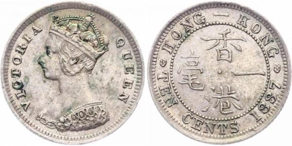 Hongkong 10 Cents 1887 Queen Victoria