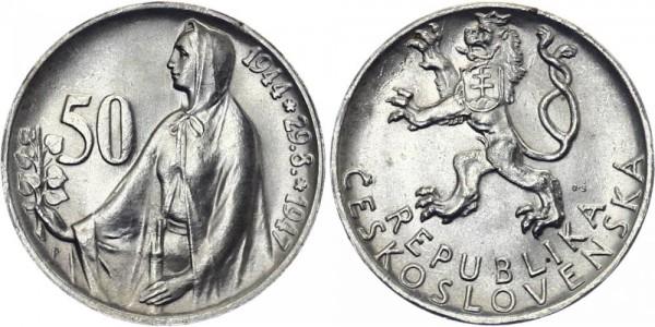 CSR 50 Kč 1947 - Slovakischer Aufstand
