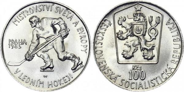 CSSR 100 Kč 1985 - Ice Hockey Meisterschaft