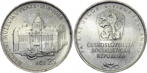 CSSR 25 Kč 1968 - Nationalmuseum Prag