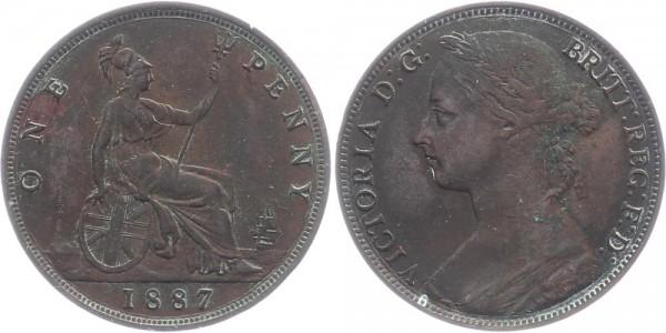 England 1 Penny 1887 - Victoria