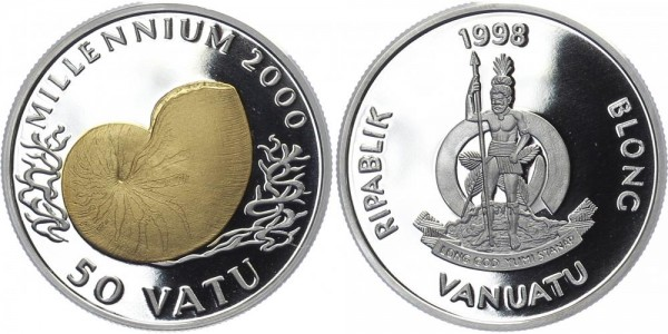 Vanuatu 50 Vatu 2000 - Muschel