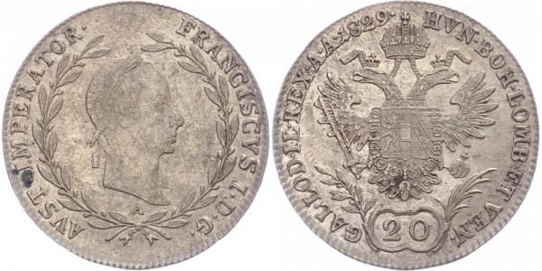 Österreich 20 Kreuzer 1829 A Franz Josef