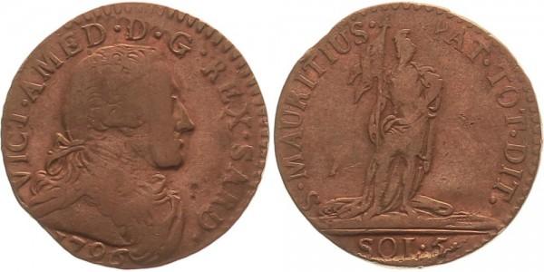 Italien 5 Soldi 1794 Sardinien Vittorio Amedeo II.