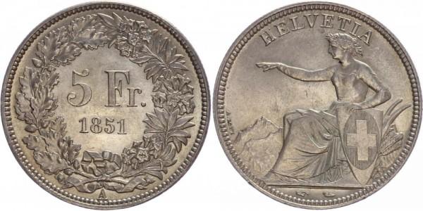 Schweiz 5 Franken 1851 A