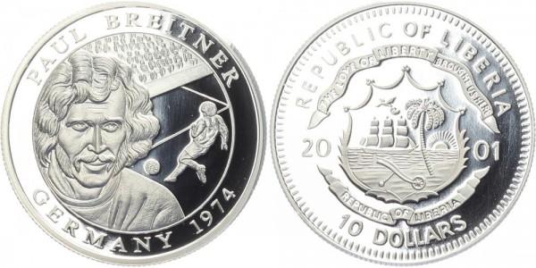 Liberia 10 Dollars 2001 - Paul Breitner