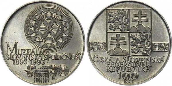 CSFR 100 Kč 1993 - Slovakisches Museum