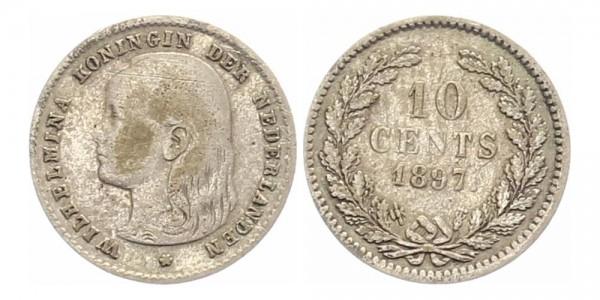 Niederlande 25 Cents 1897 - Wilhelmina I.