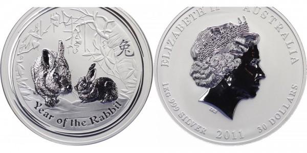Australien 30 Dollars 2011 - Jahr des Hasen - Lunar Serie