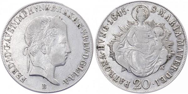 Ungarn 20 Kreuzer 1845 - Ferdinand V.