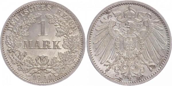 Kaiserreich 1 Mark 1909 D Kursmünze