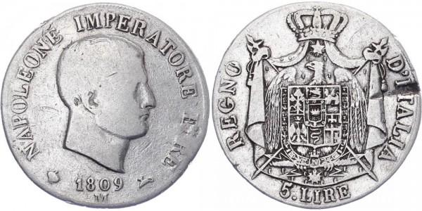 Italien 5 Lire 1809 - Napoleon I.