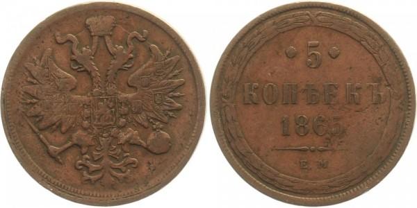 Rußland 5 Kopeken 1865 EM Kursmünze