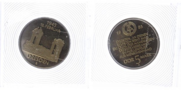 DDR 5 Mark 1985 - Dresden