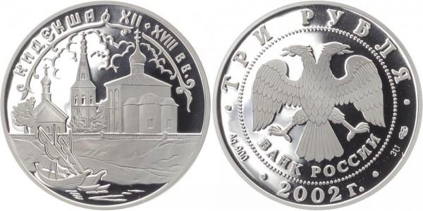Russland 3 Rubel 2002 - Kidekscha