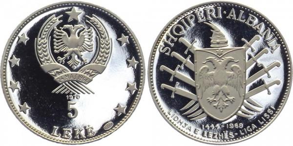 ALBANIEN 5 Leke 1970 - Schild mit Schwertern
