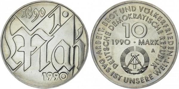 DDR 10 Mark 1990 A 1. Mai Tag der Arbeit