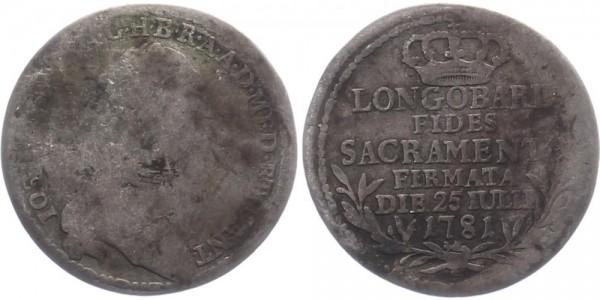 Mailand 1/2 Lira 1781 - Josef II.