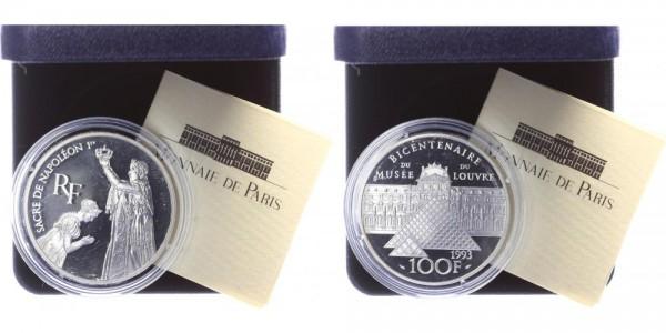 Frankreich 100 Francs 1993 - 200 Jahre Louvre, Napoleon I.